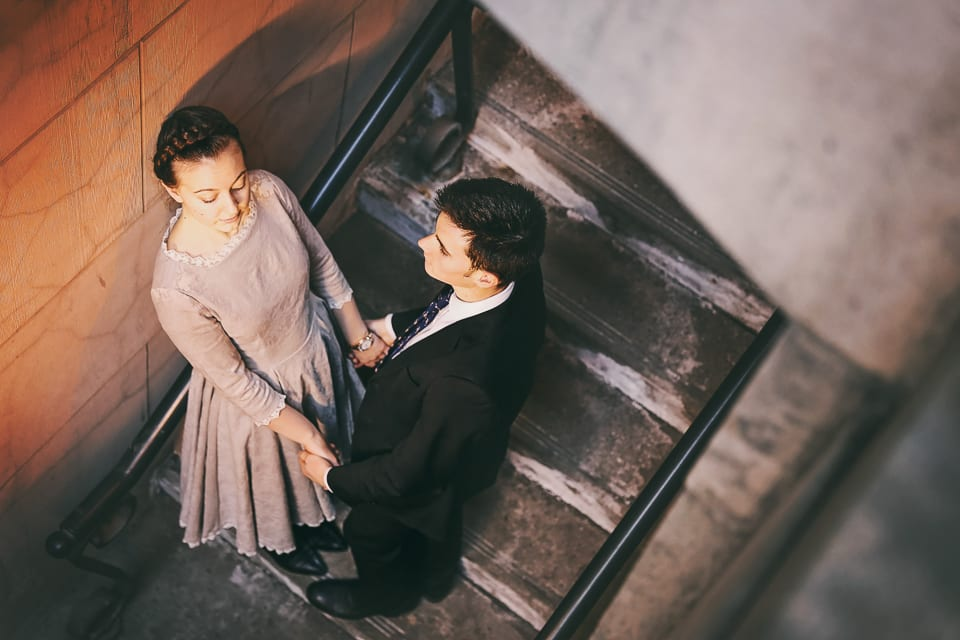 Whitney Joel Engagement In Downtown Calgary Winter Lotus Photography