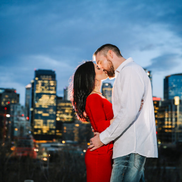Engagement Photo Session in Prince's Island Park Calgary