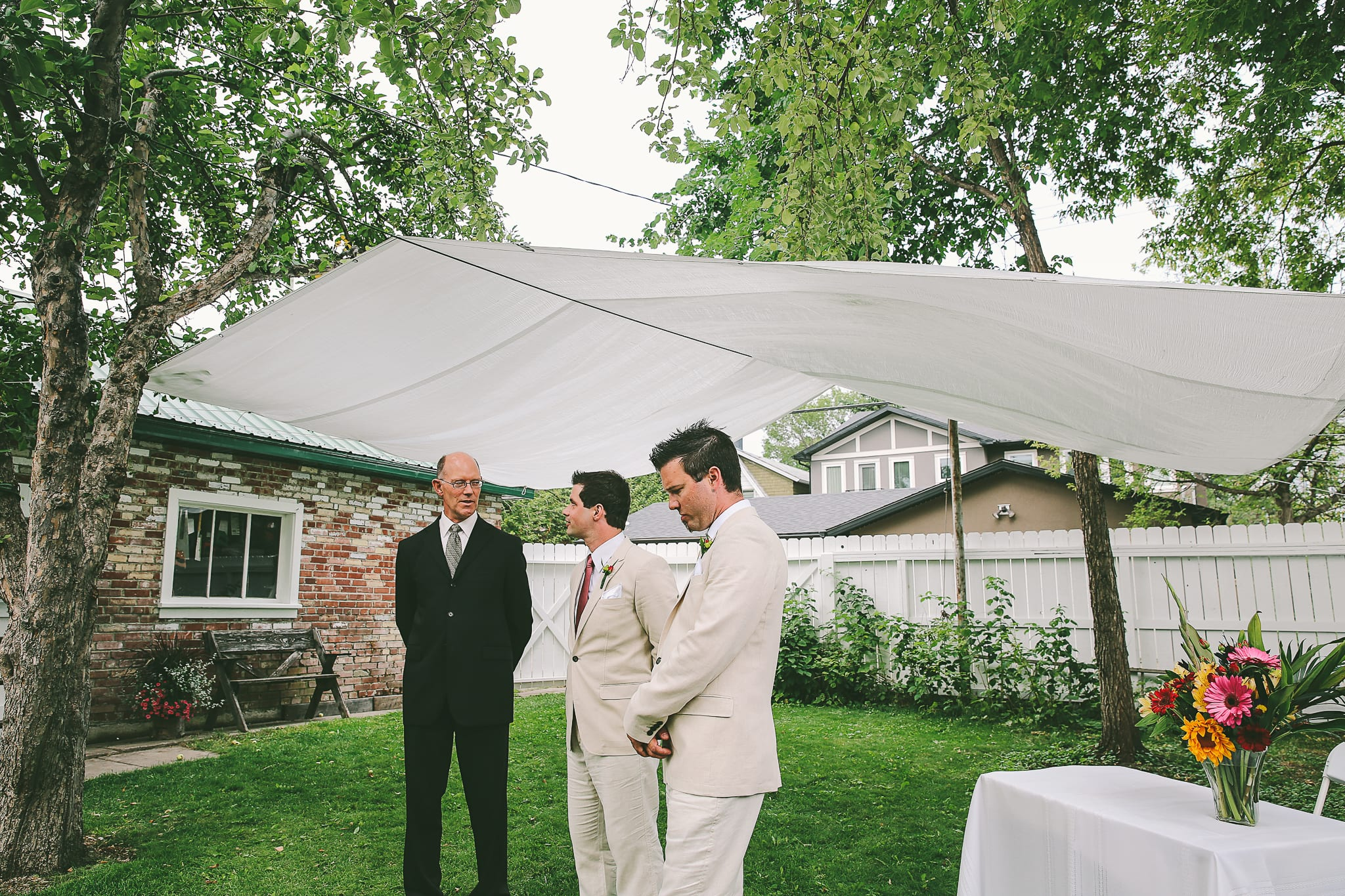 annie u0026 dominic u0027s backyard wedding in calgary winter lotus