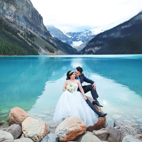Karen + Ryan Pre-Wedding Photo Session at Lake Louise