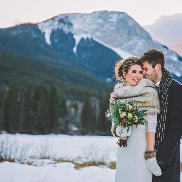 Amy + Matt Wedding at Camp Chief Hector in Kananaskis Alberta
