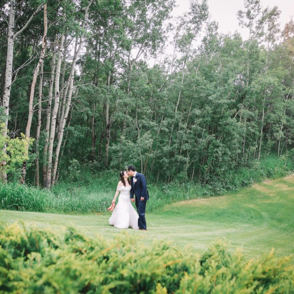Enna + Alfred Wedding in Spring Valley Chapel Calgary